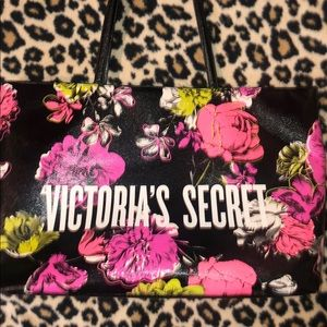 Victoria's Secret Bags - VS Bright Neon Floral Black Tote